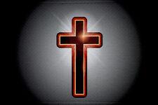 Aufnäher Christen Kreuz rot Fahne Flagge Aufbügler Patch 9 x 6 cm