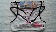 NWT Hannah Montana Medium Pink Black Underwear set