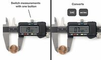 Electronic Digital Caliper Extra-Large LCD Screen, 0-8 Inches SAE or Metric