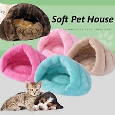 Pet Cat Dog House Kennel Puppy Cave Bed Sleeping Bag Super Soft Mat Warm Pad