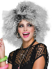 Ladies 80s Pop Icon Wig Adult Madonna Wild Child Fancy Dress Costume Accessory