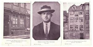 3 x Ak Massenmörder Fritz Haarmann Hannover Wohnung 1924 !