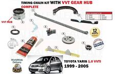 FOR TOYOTA YARIS 1.0 VVTi 1SZ-FE 1999-> TIMING CHAIN KIT WITH VVT GEAR COMPLETE