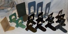 Metal Vtg Bookeneds Book Ends Lot 16 pcs Industrial  Library Mid Century