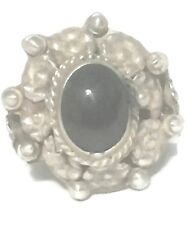 Vintage Onyx Poison Sterling Silver Ring Gothic BoHo Band Size 6 Mexico