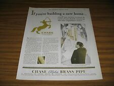 1930 Print Ad Chase Alpha Brass Pipe Waterbury,CT