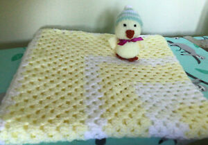 Crochet Blanket Size 28 Inch Square With Hand Knitted Chick. Ideal  Baby Gift