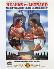 SUGAR RAY LEONARD vs THOMAS HEARNS 8X10 PHOTO BOXING POSTER PICTURE