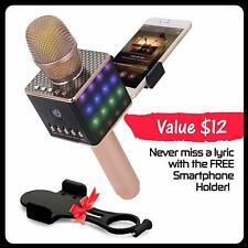 Wireless Karaoke Microphone - Portable Ktv Machine with Speaker H8 2.0 Rose Gold