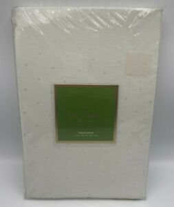 Kate Spade 70 inch Round Tablecloth Cream Ivory Larabee Dot Pattern New
