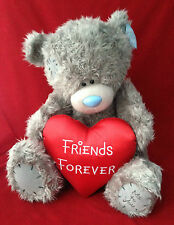 "ME TO YOU BEAR TATTY TEDDY X LARGE 24"" RED SATIN FRIENDS FOREVER HEART BEAR GIFT"