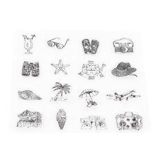 Clear Transparent Silicone Diy Scrapbooking Stamp Album Decor Rubber Card G