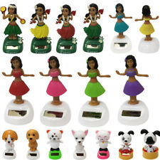 Hawaii Girl Car Solar Powered Dancing Animal Swinging Animated Bobble Dancer Toy