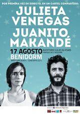 Julieta Venegas/Juanito Makande 2016 Spain Concert Poster-Spanish Flamenco/Folk