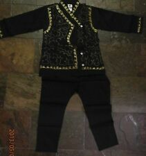 5 to 6yr old boys bollywood achkan pyjama outfit Indian traditional set shape2