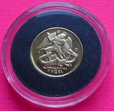 1994  ISLE OF MAN GOLD ANGEL 1/20TH BRILLIANT UNCIRCULATED  COIN SO LOVELY!!