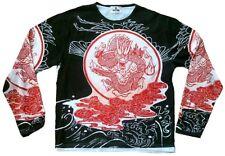 TATTOO FANTASTICO ASIA DRAGON COOL maniche lunghe maglietta S/M