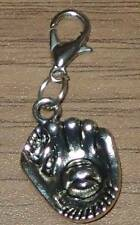 Tibetan Silver Cute Baseball/Softball Mitt & Ball Clip On Bracelet Charm