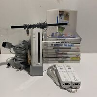 Nintendo Wii White Console RVL-001 GameCube Compatible Bundle Wii Sports/ Games