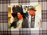 📸 Michael J. Fox Christopher Lloyd Back to the Future signed photo 6x8 inch coa