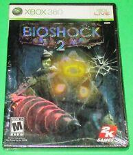BioShock 2 Xbox 360 *New! *Black Case! *Sealed! (Torn Cellophane) Free Ship!