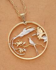 "Hummingbird Pendant ,Jamacian Steamer Tail Coin Hand Cut, 1-1/2"" ( # 564 )"