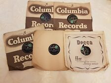 Set Of 5 Columbia Vinyl Records Sonata In B Flat Major 'HAMMERKLAVIER', Speed 78