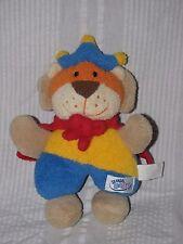 SIMBA BABY Plush LION KING  Cape and Crown Yellow Blue Orange Stuffed Animal