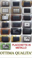 PLACCHE PLACCHETTE IN METALLO PER SERIE LIVING INTERNATIONAL COMPATIBILI BTICINO