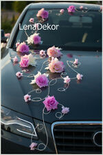 wedding car decoration, ribbon , bows, prom limousine decoration, LEA1