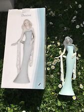 """New The Leonardo Collection Desire 2011 Light Blue Lady Of The Waterfall 12.5"""""""