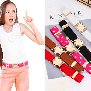 Fashion Heart Belt Stretch Adjustable Girls Elastic Belts Waist Belt Dresses