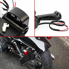 Black Collapsible LED Side Mount License Plate Bracket For Harley Iron 883 XL883