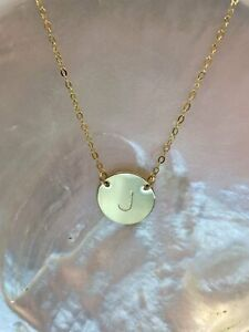 Chloe Initial Disc Necklace GOLD FILLED