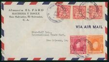 Mayfairstamps El Salvador 1949 to New Orleans Airmail cover wwo1623