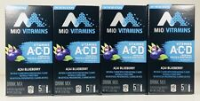 MiO Vitamins ACAI BLUEBERRY Drink Mix, Vitamins A+C+D, 60 Cals, Natural, 20 Pkts