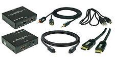 HDMI Audio-Extraktor+ 1x 1,5m HDMI, 1x 1,5m Toslink, 1x 1,5m Klinke-Cinch Kabel