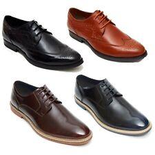 Lucini Hombre Cuero Informal Inteligentes Boda Encaje Estilo Zapatos UK Tamaños 6-12