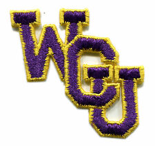 "WESTERN CAROLINA CATAMOUNTS NCAA COLLEGE 2.5"" WCU INTERLOCKED LETTERS TEAM PATCH"