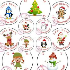 Personalised Christmas Sticker Father Xmas Santa Reindeer Sweet Cone Gift Hamper