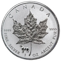 2018 Canada 1 oz Silver Maple Leaf Dog Privy Reverse Proof $5 GEM BU SKU52822