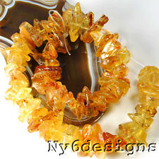 """18x16x5mm-30x15x9mm Natural Amber Nugget Beads 15""""(AM34) FREE SHIPPING"""