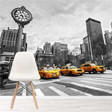 Yellow Taxi Cabs New York USA Wall Mural Wallpaper WS-42346