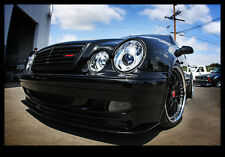 1998-2002 Mercedes W208 CLK320/430/55 AMG LED Dual Halo Projector Headlights Set