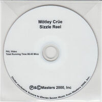 MOTLEY CRUE Sizzle Reel UK promo-only test press PAL DVD