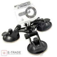 Triple Suction Cup Mount FOR GoPro HD Hero 2 3 3+ 4 5 6 Session Camera / 3 cups