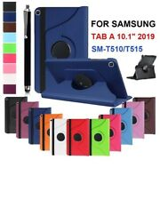 """For Samsung Tab A 10.1"""" SM-T510/T515 2019 360 Rotating Leather Smart Case Cover"""