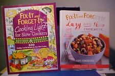 Lot of 3 Fix-It & Forget-It Cookbooks Lazy Slow Cooking Light Holiday Crock Pot