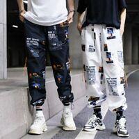 Pantalon homme streetwear joggers cargo harem hip hop Harajuku Fashion sportwear