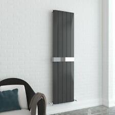 "470mm x 1800mm ""Supreme"" Vertical Anthracite Aluminium Radiator & Towel Bar"